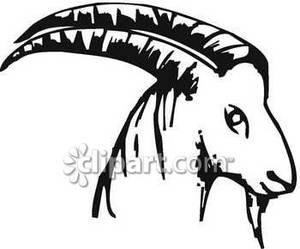 Goat-horned clipart #18