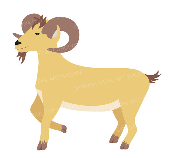 Farm Clipart Goat Art Barn Life by ShannaRiehlArtShoppe on Etsy.