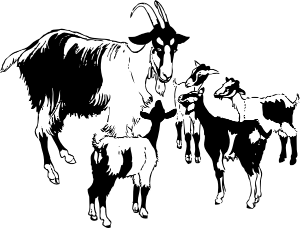 Cartoon Goats Clipart.