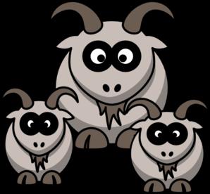 Goats clip art 4.