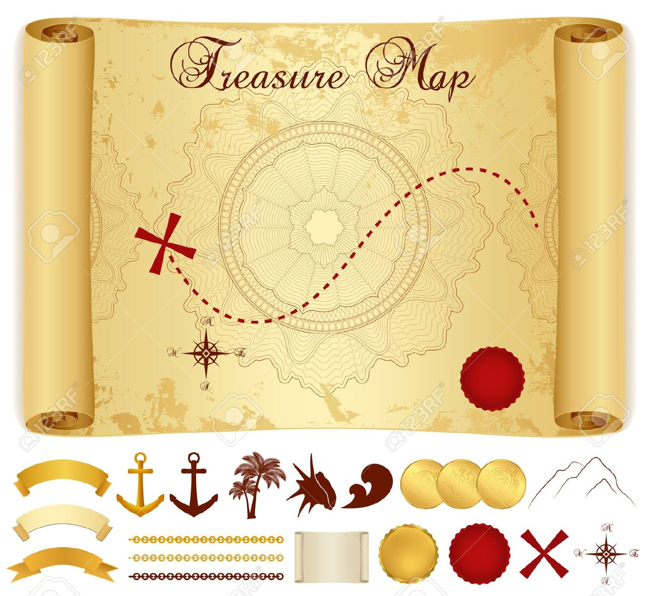 Blank Treasure Map Pirate Images Stock Pictures Royalty Free Goat.