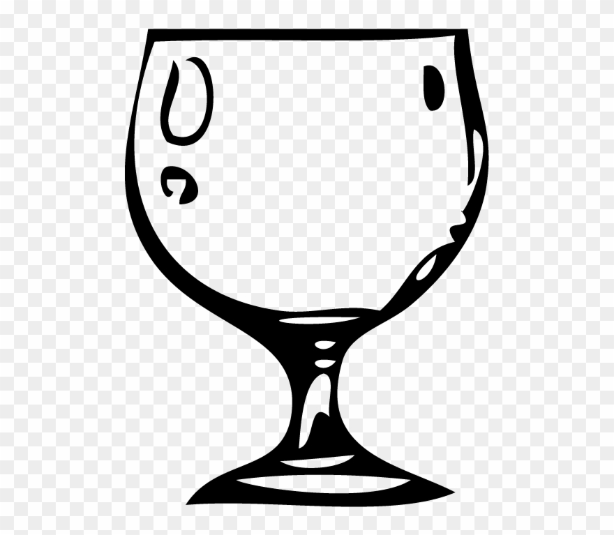 Water Goblet Clipart.