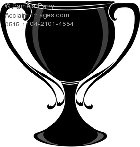 Clip Art Image of a Silhouette of a Winner's Cup or Goblet.