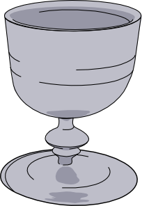Wine goblet clipart.