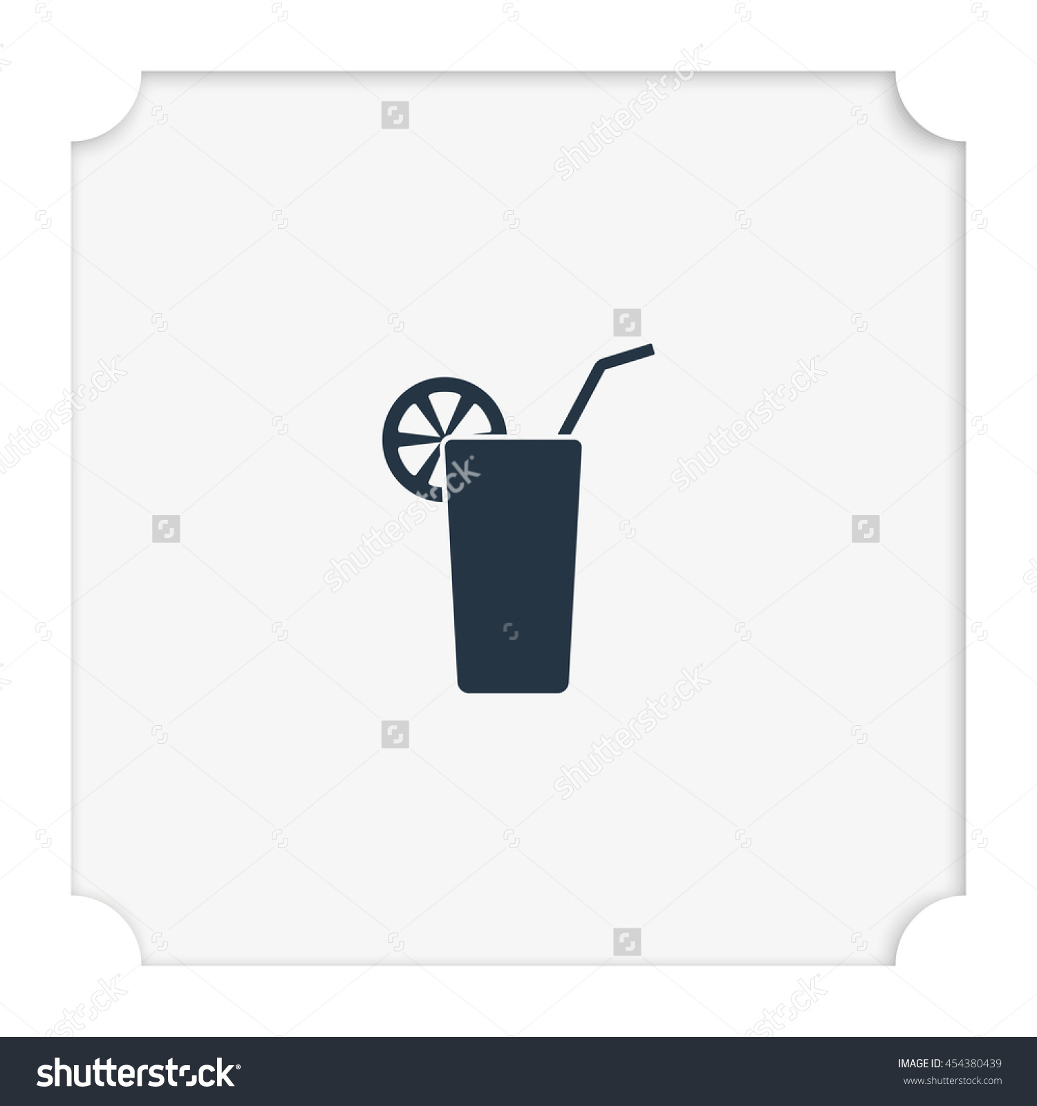 Goblet And Cocktail Tube Icon. Stock Vector Illustration 454380439.