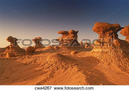 Picture of Rock sculptures in Goblin Valley State Park in Utah at.