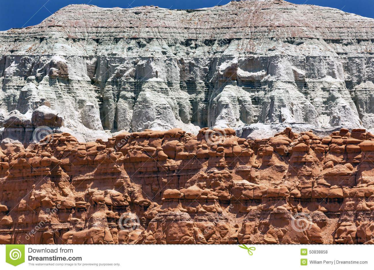 Blue Mountain Hoodoos Goblin Valley State Park Utah Stock Photo.