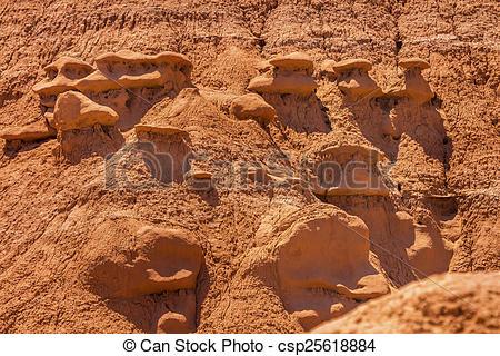 Pictures of Goblin Village Mushroon Shaped Hoodoos Goblin Valley.