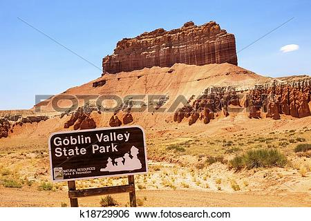 Stock Images of Wild Horse Butte Goblin Valley State Park Rock.
