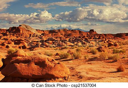 Stock Photography of Goblin valley.