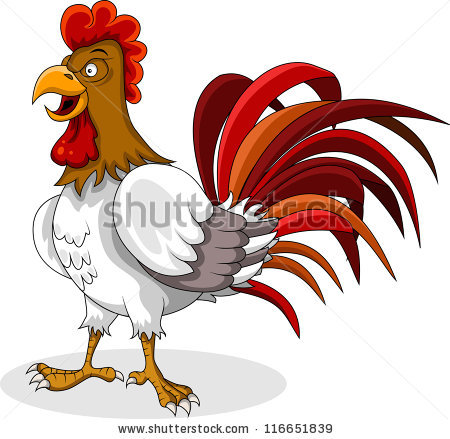 Scared Cartoon Chicken Vector Clip Art Stock Vector 119505895.