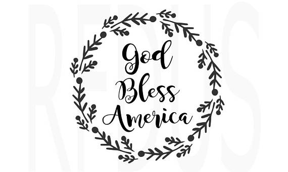 God bless america clipart black and white clipart images.