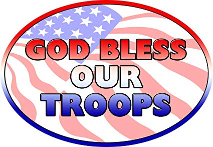 Amazon.com: God Bless Our Troops Magnet For Car or Home 3.