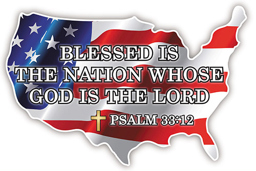 Blessed is the Nation Auto Magnet.