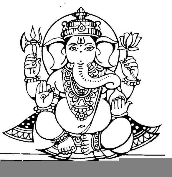 Ganapati God Clipart.