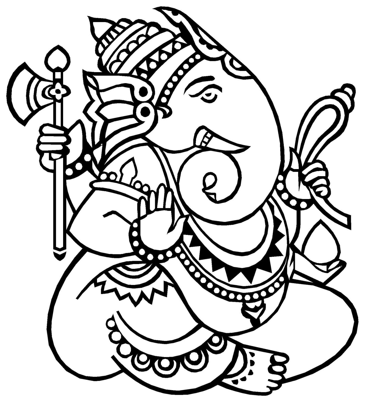 Lord Ganesha Easy Sketches God Ganesh Drawings.
