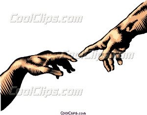 Hand of God Vector Clip art.