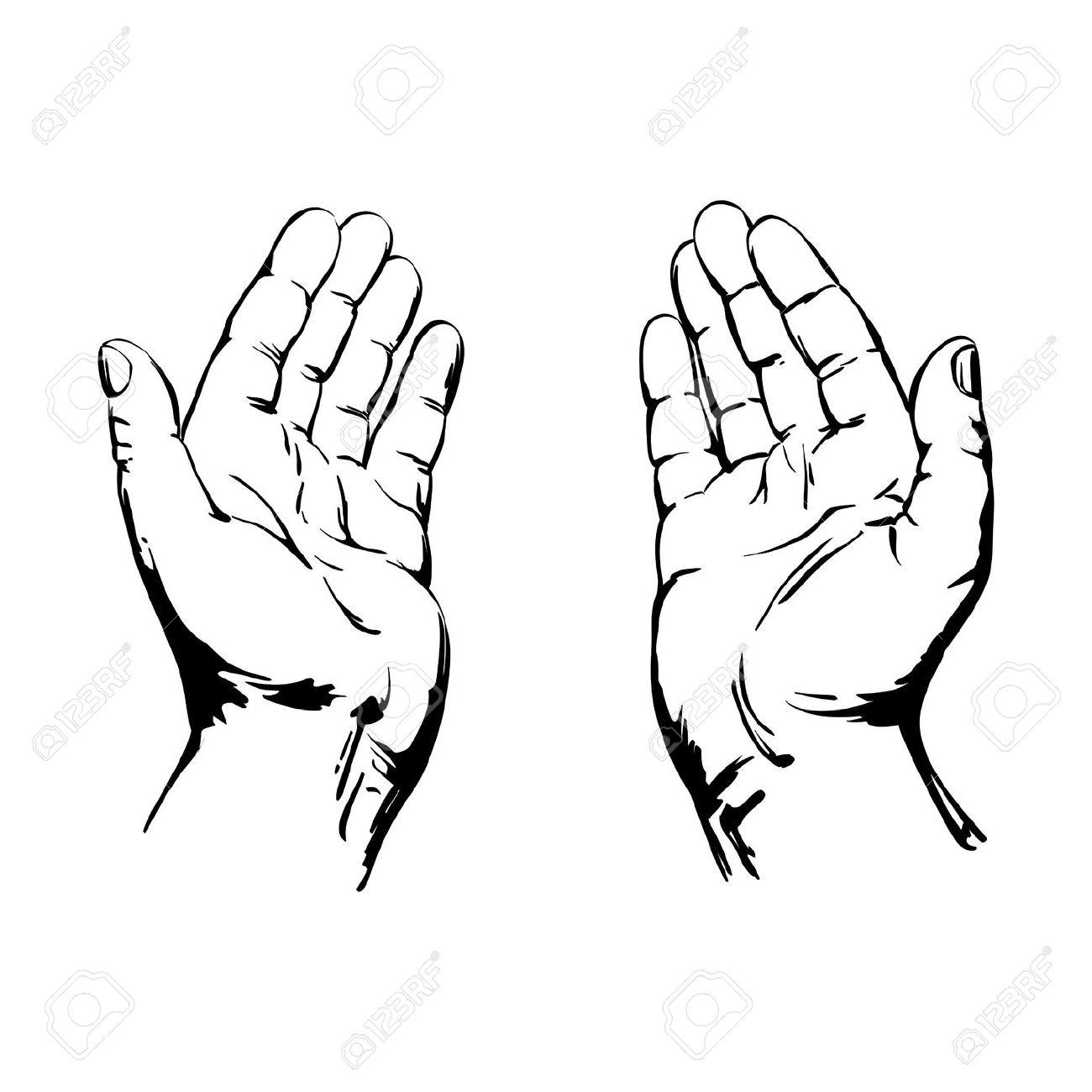 God's hand clipart.