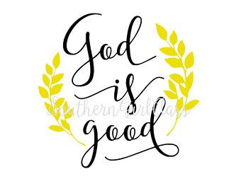 God Is Good Clipart.