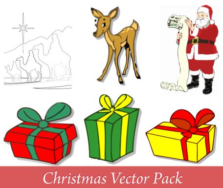 God jul vektor Pack gratis Clipart Picture Free Download.