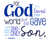 Items similar to John 3:16.