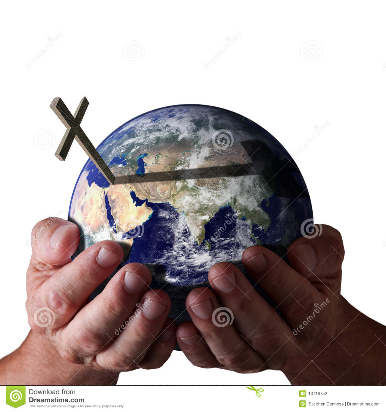For God So Loved The World Holding In His Hands Stock.
