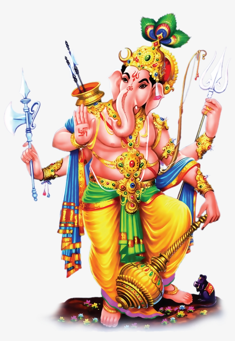 Lord Vinayaka Ganesh Standing Hd Png Images Photos.