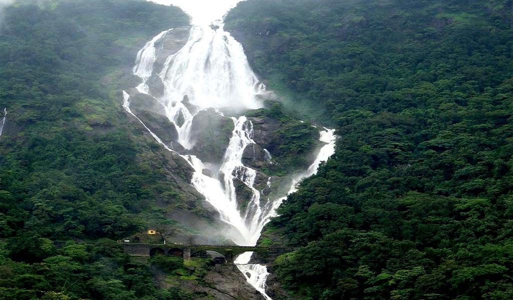 Dudhsagar Falls, Goa: The Dudhsagar Falls in Goa is ranked as the.