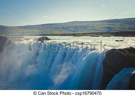 Picture of Icelandic Waterfall Godafoss.