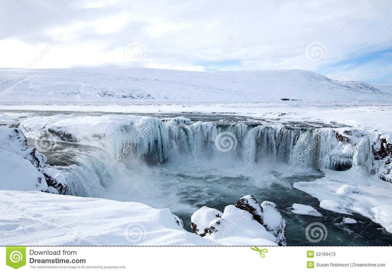 Godafoss In Iceland Stock Photo.