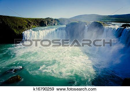 Stock Photograph of Icelandic Waterfall Godafoss k16790259.