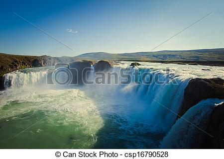 Stock Photo of Icelandic Waterfall Godafoss.