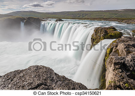 Stock Photo of Majestic Godafoss.