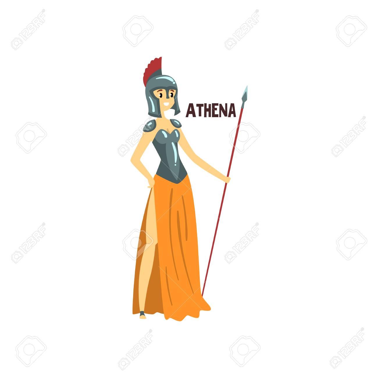 Athena Olympian Greek Goddess, ancient Greece mythology character...