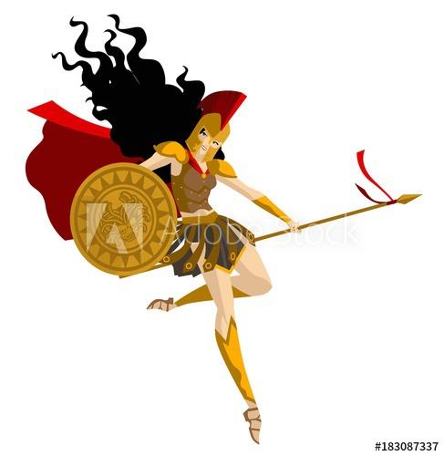 minerva palas athena greek goddess of wisdom.