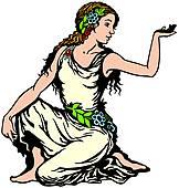 Goddess clipart.
