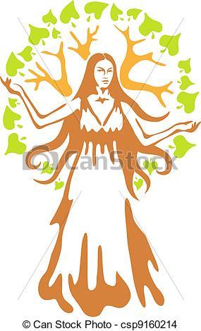 Goddess clip art.