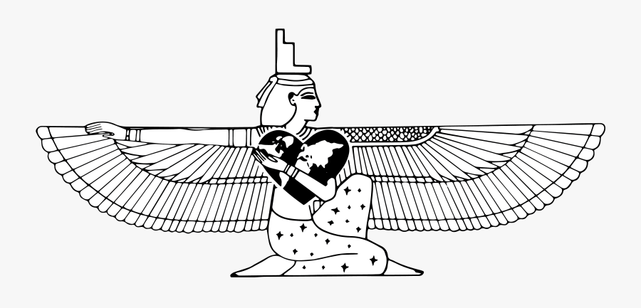 Isis Goddess Black And White , Free Transparent Clipart.