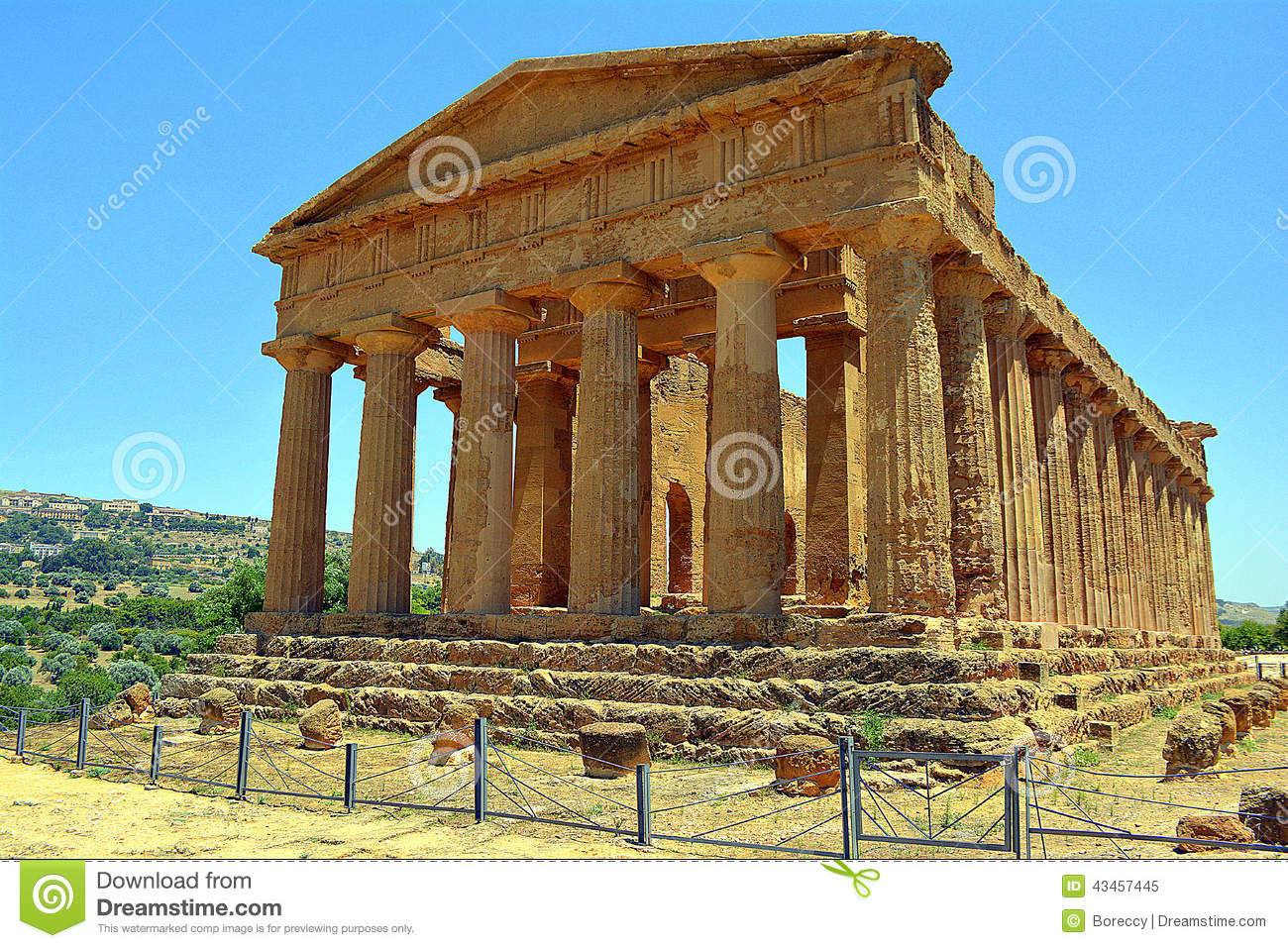 Greek Temple Of Concordia.