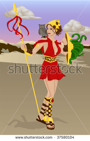 Goddess Athena Stock Images, Royalty.