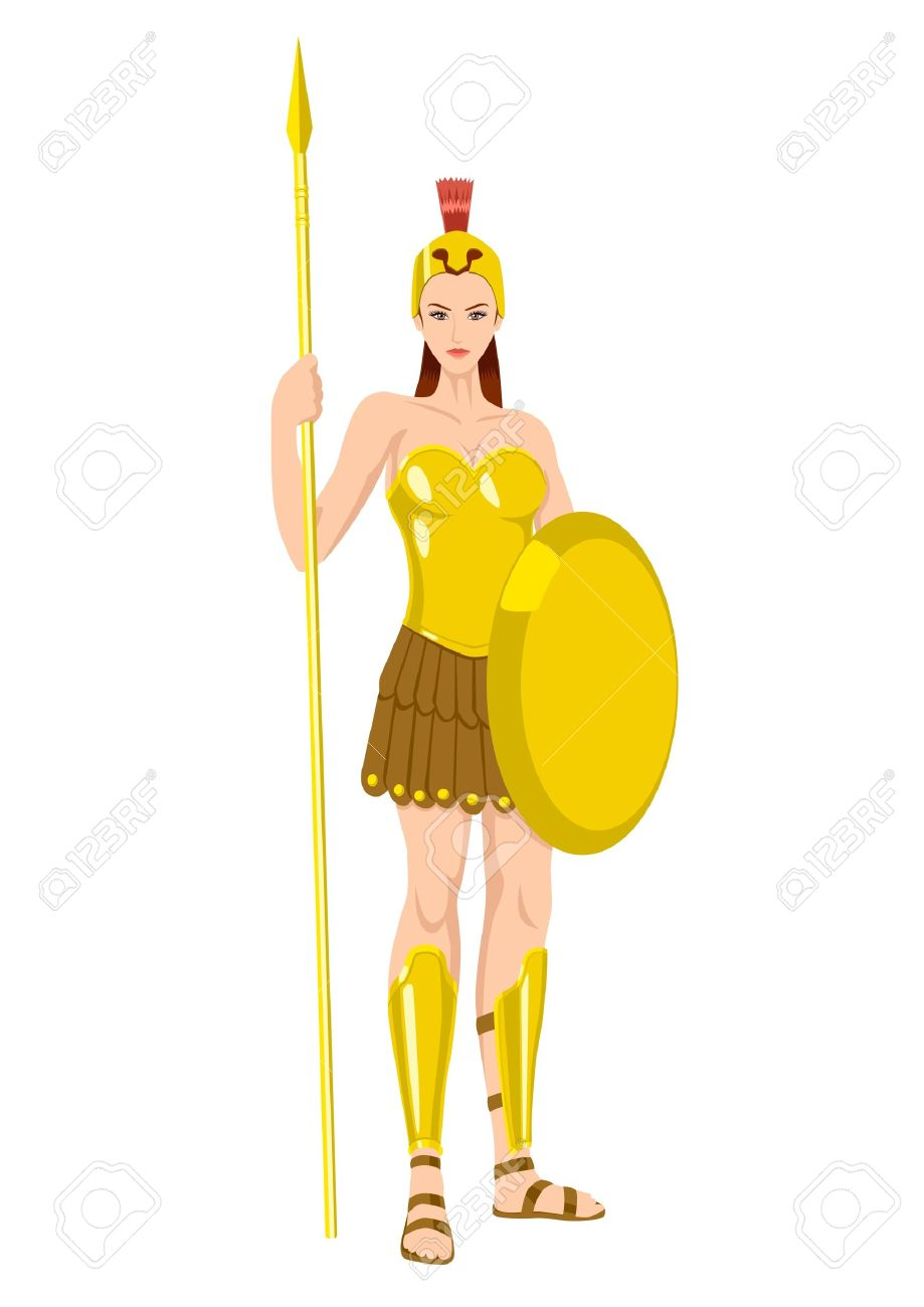 Athena The Goddess Of Wisdom, Civilization, Warfare, Strength.