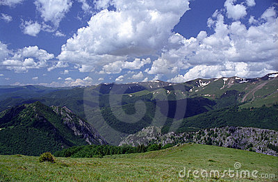 Cerna Mountains, Carpathians, Romania Royalty Free Stock Image.