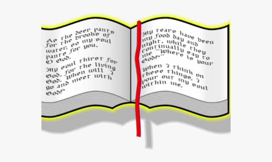 Scripture Clipart Opened Bible.