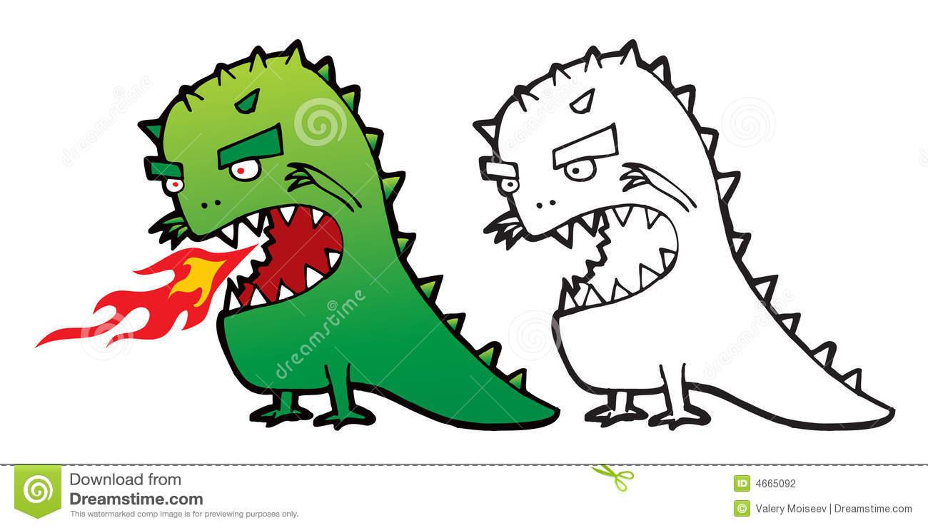 Godzilla Stock Illustrations.