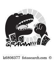 Godzilla Clipart Royalty Free. 36 godzilla clip art vector EPS.