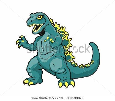 Godzilla Stock Images, Royalty.