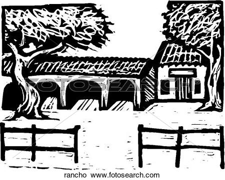 Clipart of Rancho rancho.