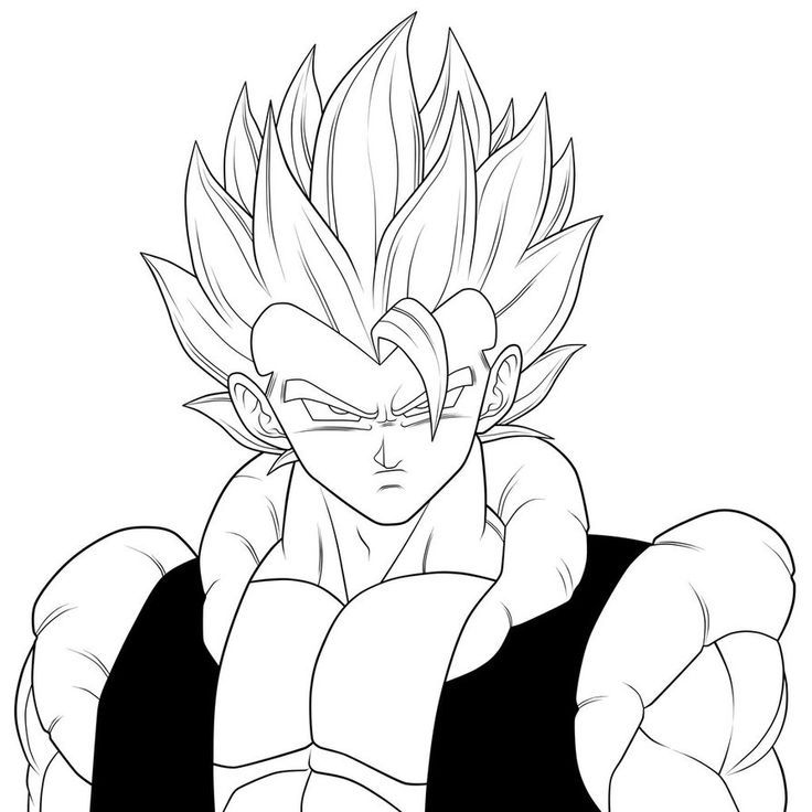 Free Gogeta Coloring Pages, Download Free Clip Art, Free.