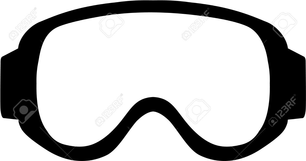 Ski Goggles Clipart.