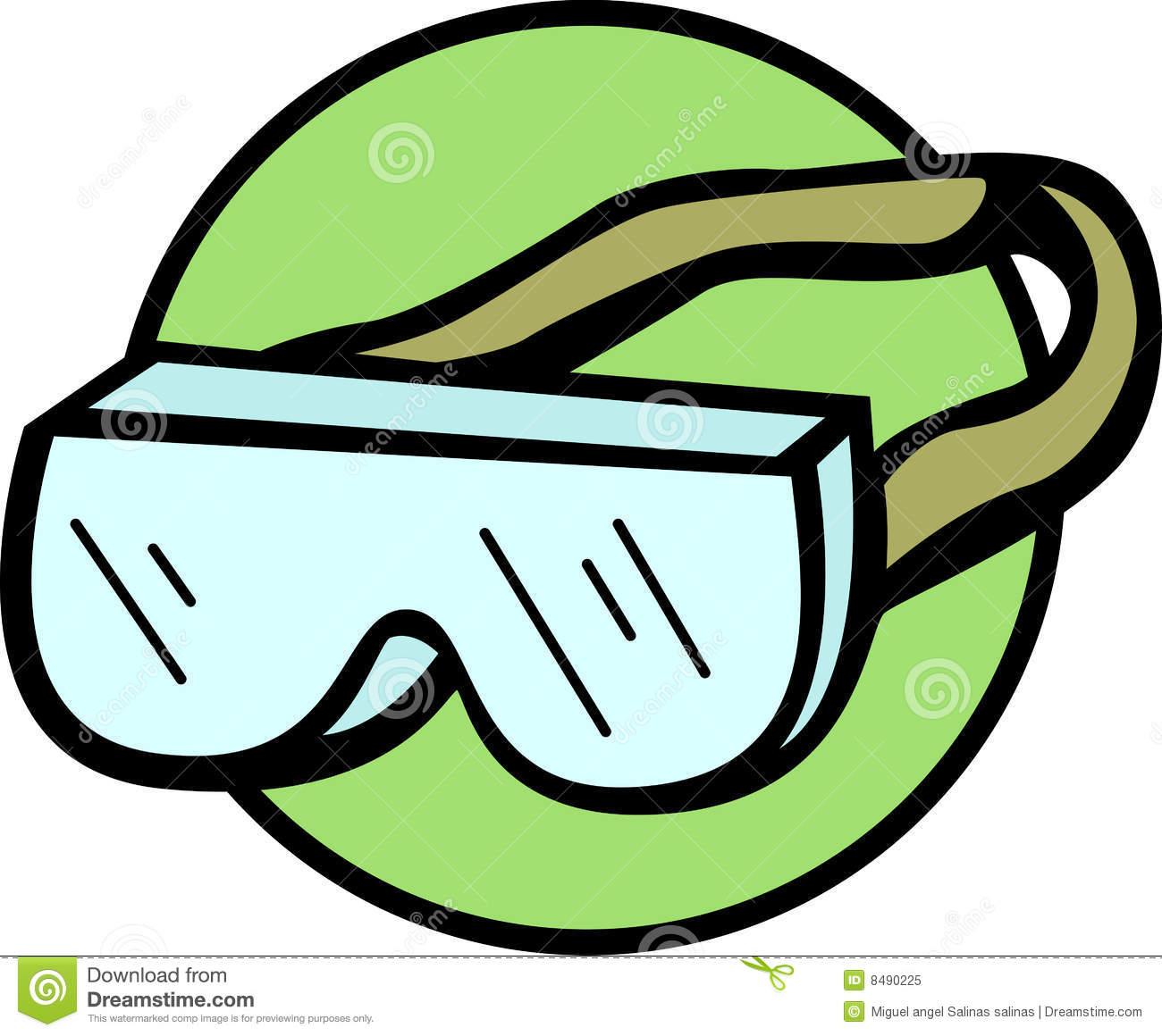 Swim Goggles Clipart.